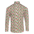 Holly White - Front - Christmas Shop Mens Printed Christmas Shirt