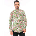 Reindeer Black - Front - Christmas Shop Mens Printed Christmas Shirt