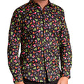 Black - Front - Christmas Shop Mens Printed Christmas Shirt