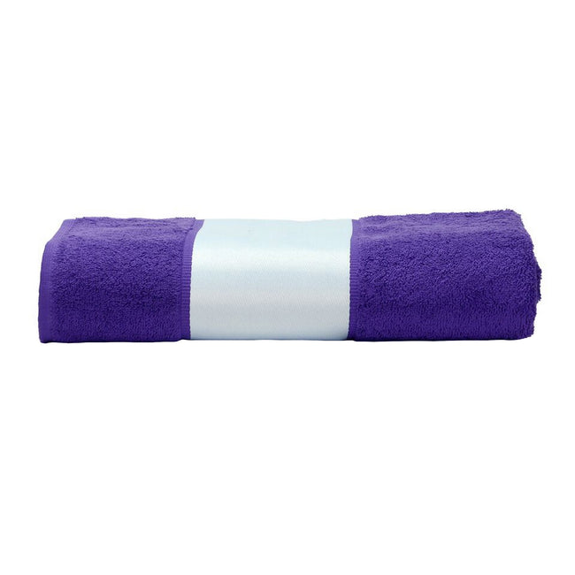 Purple - Front - A&R Towels Subli-Me Hand Towel