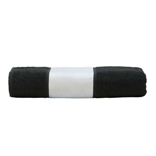 Black - Front - A&R Towels Subli-Me Hand Towel