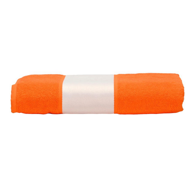 Bright Orange - Front - A&R Towels Subli-Me Hand Towel