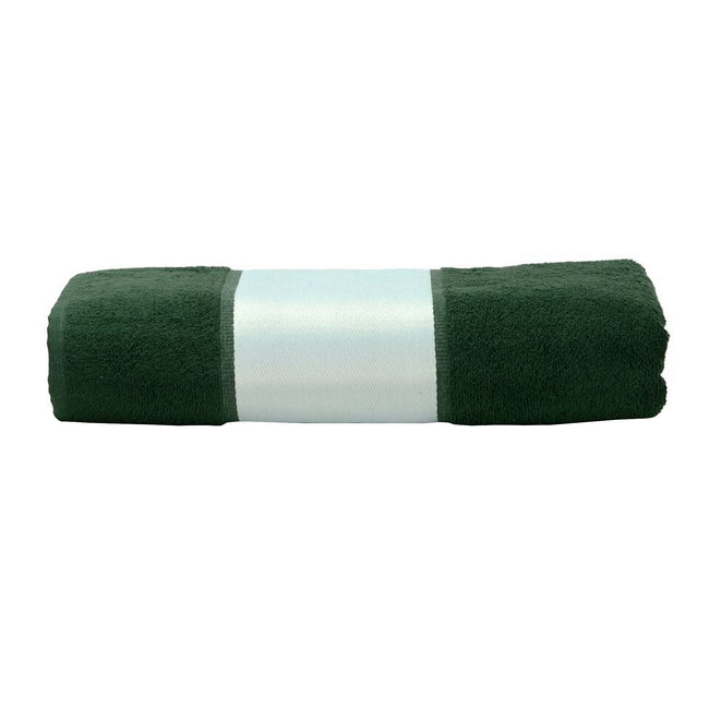 Dark Green - Front - A&R Towels Subli-Me Hand Towel