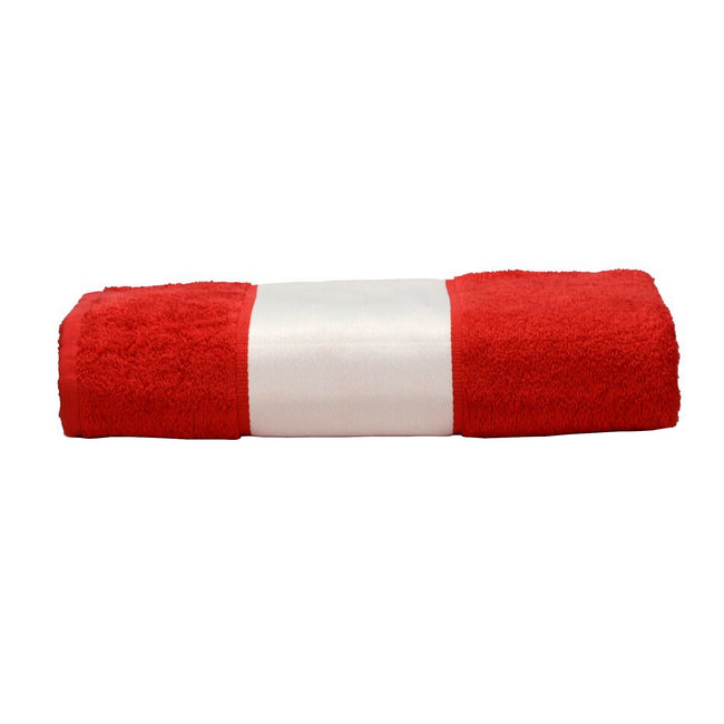 Fire Red - Front - A&R Towels Subli-Me Hand Towel