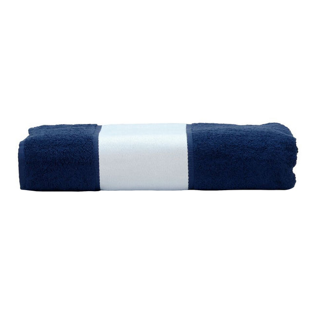 French Navy - Front - A&R Towels Subli-Me Hand Towel