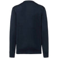 French Navy - Front - Russell Collection Mens V-neck Knitted Cardigan