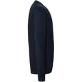 French Navy - Side - Russell Collection Mens V-neck Knitted Cardigan