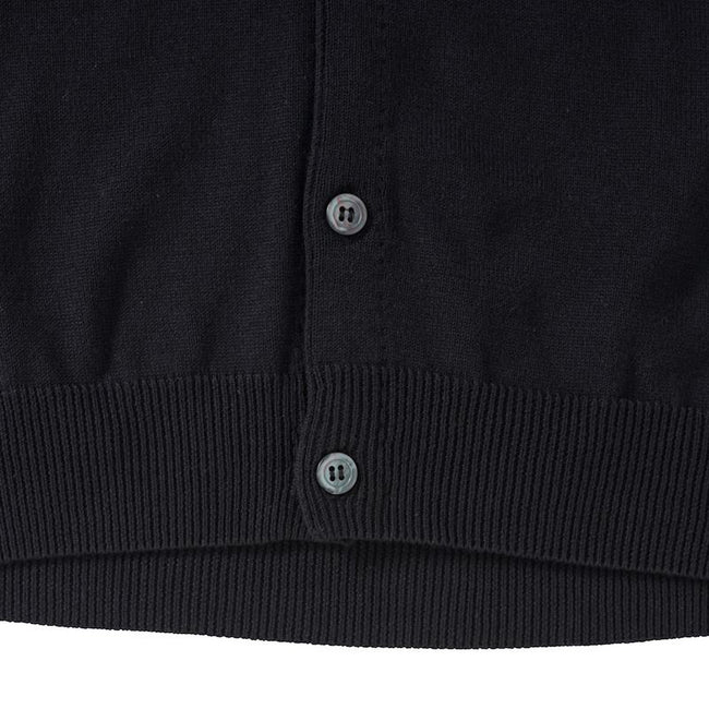 Black - Pack Shot - Russell Collection Mens V-neck Sleeveless Knitted Cardigan
