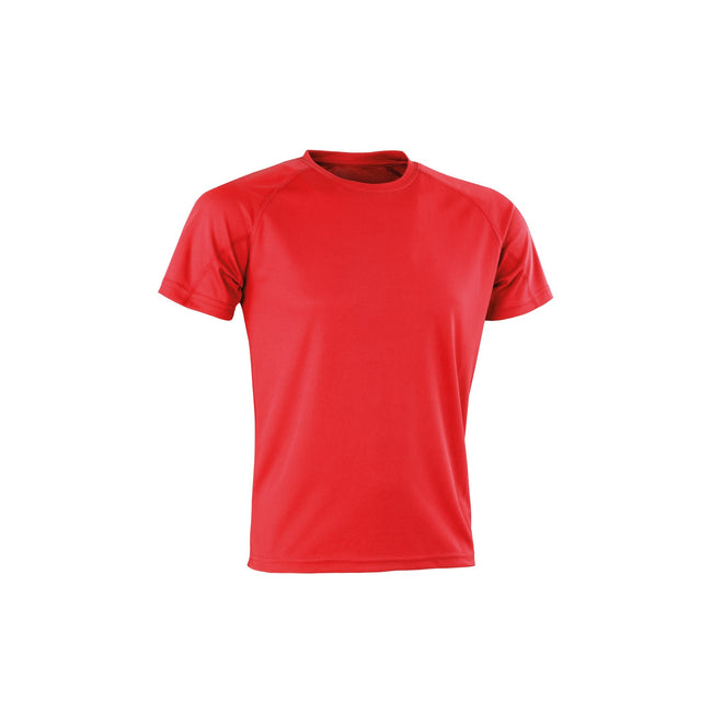 Red - Front - Spiro Adults Unisex Impact Aircool Tee