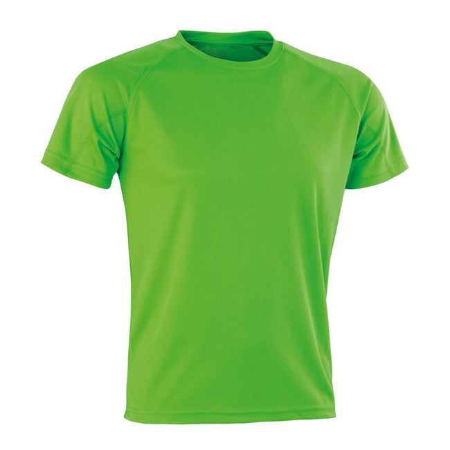 Flo Green - Front - Spiro Adults Unisex Impact Aircool Tee