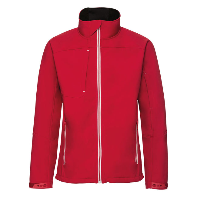 Classic Red - Front - Russell Mens Bionic Softshell Jacket
