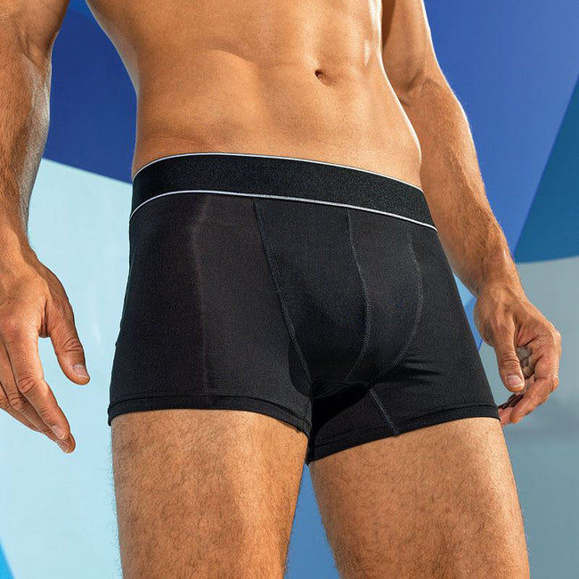 Black-White - Side - TriDri Mens Boxer Briefs