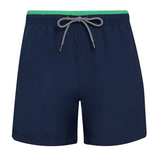 Black-Black - Back - Asquith & Fox Mens Swim Shorts