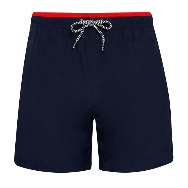 Black-Royal - Back - Asquith & Fox Mens Swim Shorts