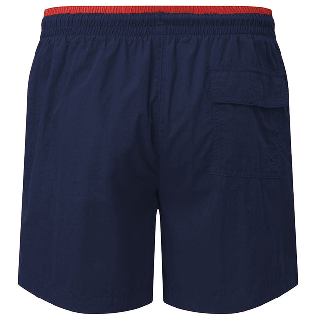 Navy-Kelly - Front - Asquith & Fox Mens Swim Shorts