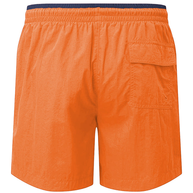 Purple-Black - Front - Asquith & Fox Mens Swim Shorts