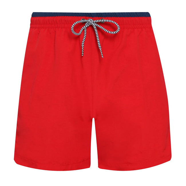 Purple-Black - Back - Asquith & Fox Mens Swim Shorts