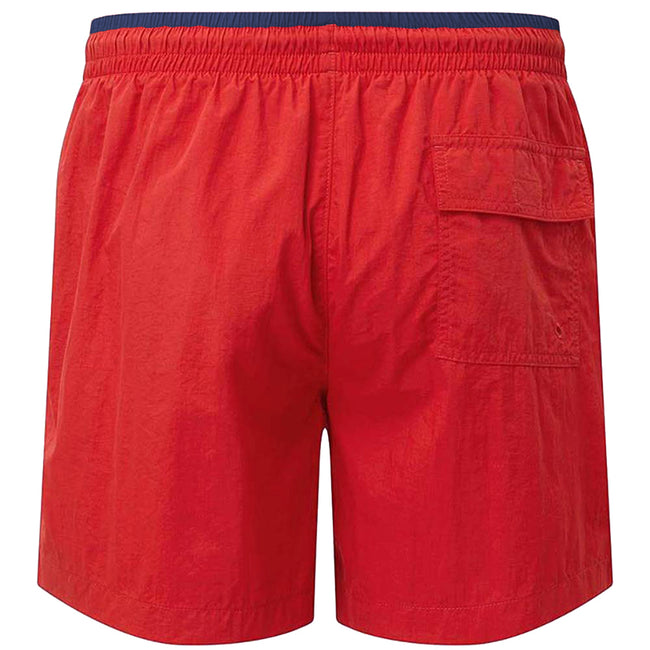 Orange-Navy - Front - Asquith & Fox Mens Swim Shorts