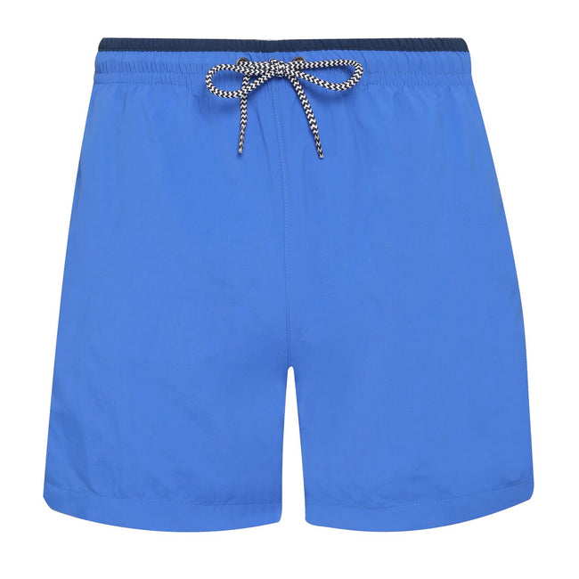 Orange-Navy - Back - Asquith & Fox Mens Swim Shorts