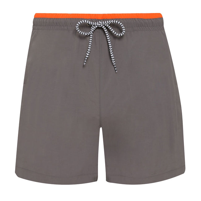 Red-Navy - Back - Asquith & Fox Mens Swim Shorts