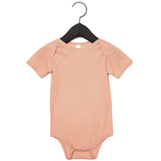 Peach Triblend - Front - Bella + Canvas Unisex Baby Triblend Short Sleeve Onesie
