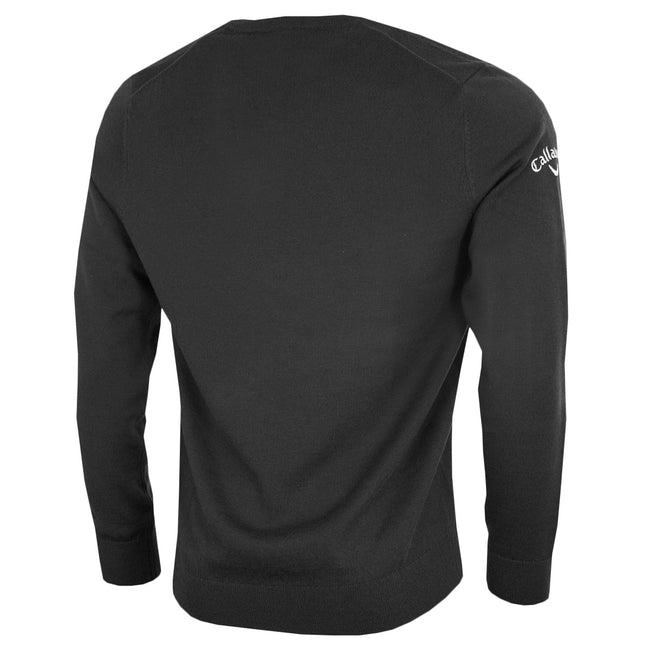 Griffin - Front - Callaway Mens Ribbed V Neck Merino Sweater
