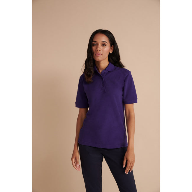 Magenta - Front - Henbury Womens-Ladies 65-35 Polo Shirt