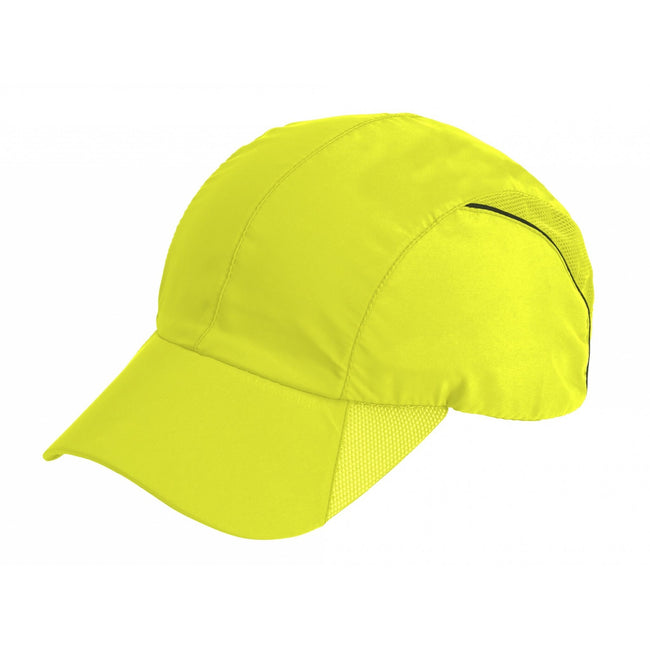 Flo Yellow - Front - Result Headwear Impact Sports Cap