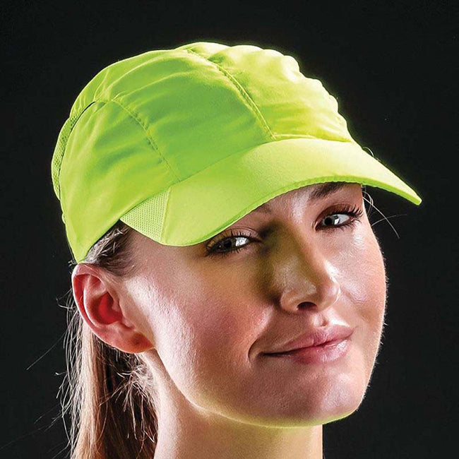 Flo Yellow - Back - Result Headwear Impact Sports Cap