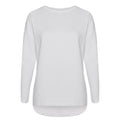 White - Front - Comfy Co Womens-Ladies Gals Oversized Sweatshirt