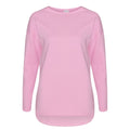 Baby Pink - Front - Comfy Co Womens-Ladies Gals Oversized Sweatshirt