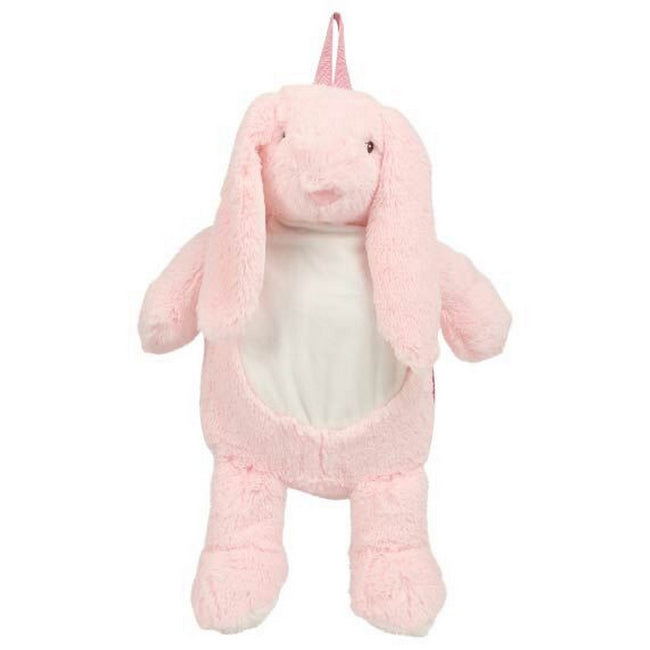 Pink - Front - Mumbles Childrens Girls Zippie Bunny Backpack