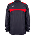 Dark Navy-Red - Front - Gilbert Childrens-Kids Photon Warm-Up Top