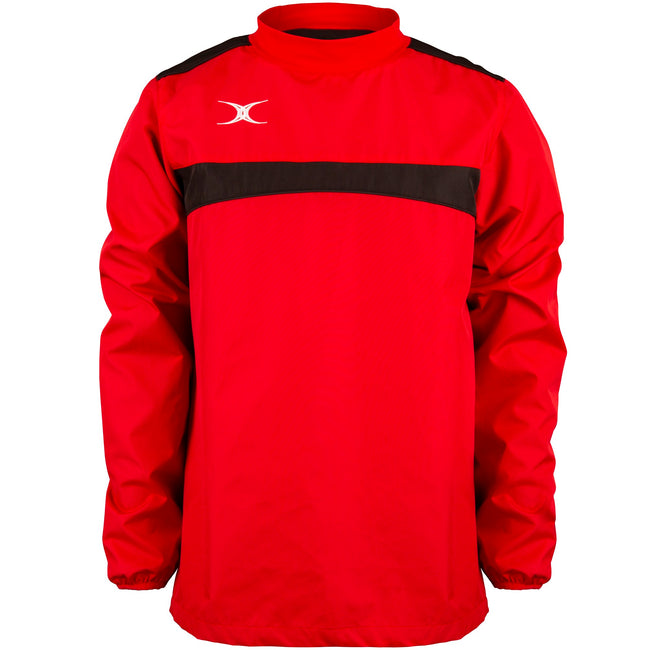 Red-Black - Front - Gilbert Childrens-Kids Photon Warm-Up Top