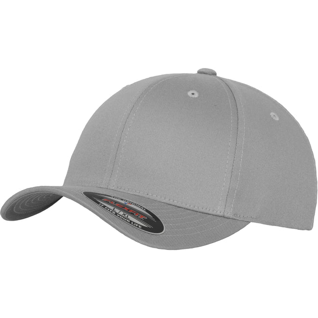 Silver - Front - Yupoong Mens Flexfit Fitted Baseball Cap (Pack of 2)