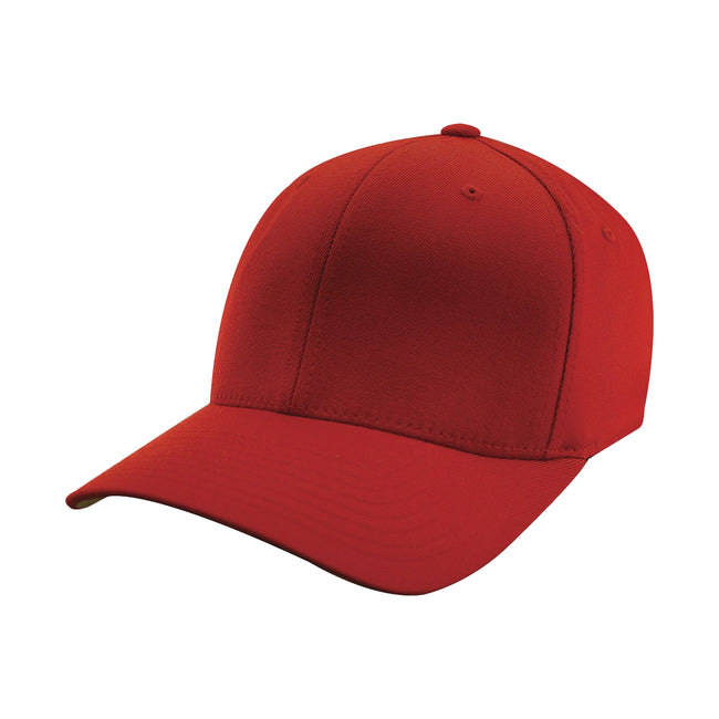 Red - Front - Yupoong Mens Flexfit Fitted Baseball Cap (Pack of 2)