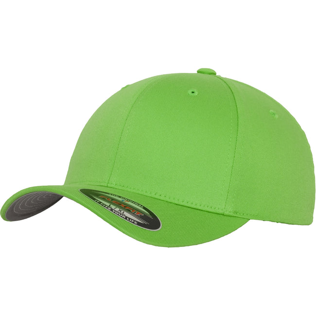 Fresh Green - Front - Yupoong Mens Flexfit Fitted Baseball Cap (Pack of 2)