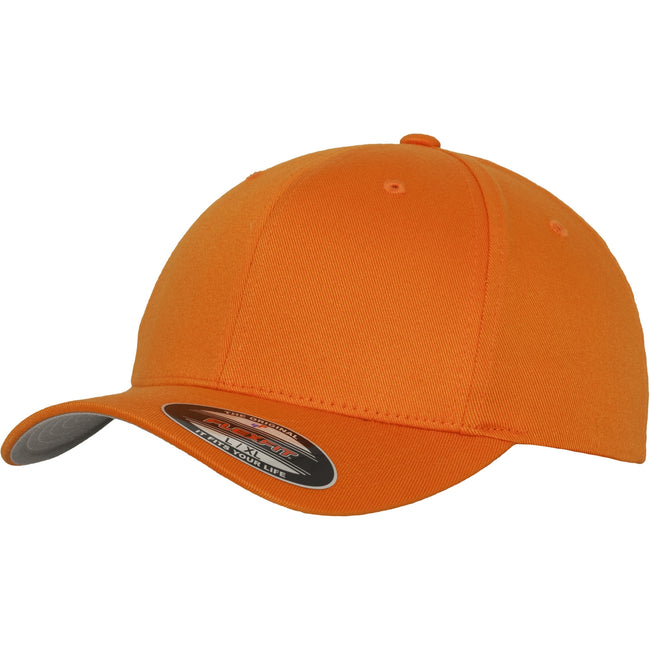 Orange - Front - Yupoong Mens Flexfit Fitted Baseball Cap (Pack of 2)