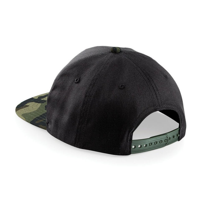 Black- Jungle Camo - Front - Beechfield Camouflage Retro Snapback Cap (Pack of 2)