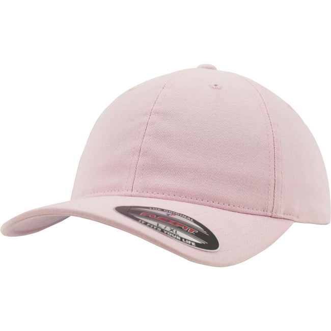 Pink - Front - Flexfit Garment Washed Cotton Dad Baseball Cap (Pack of 2)