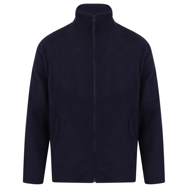 Oxford Navy - Front - Henbury Mens Microfleece Anti-Pill Jacket