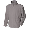 Heather Gray - Front - Henbury Mens Microfleece Anti-Pill Jacket