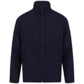 Navy - Front - Henbury Mens Microfleece Anti-Pill Jacket