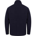 Navy - Back - Henbury Mens Microfleece Anti-Pill Jacket