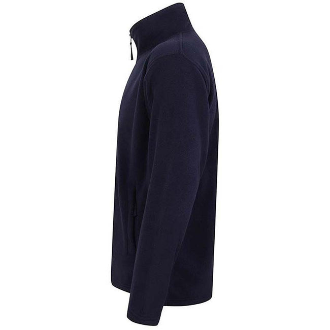 Navy - Side - Henbury Mens Microfleece Anti-Pill Jacket