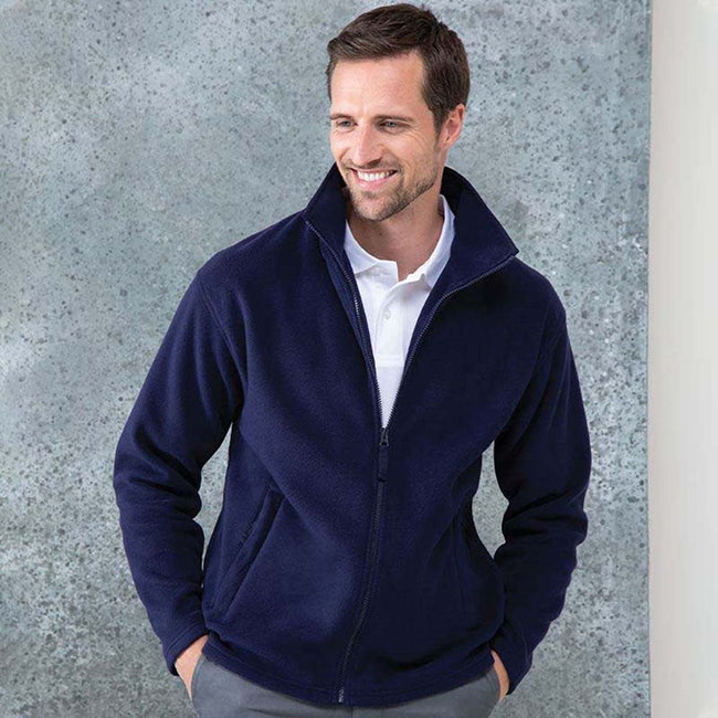 Navy - Pack Shot - Henbury Mens Microfleece Anti-Pill Jacket