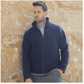 Navy - Close up - Henbury Mens Microfleece Anti-Pill Jacket
