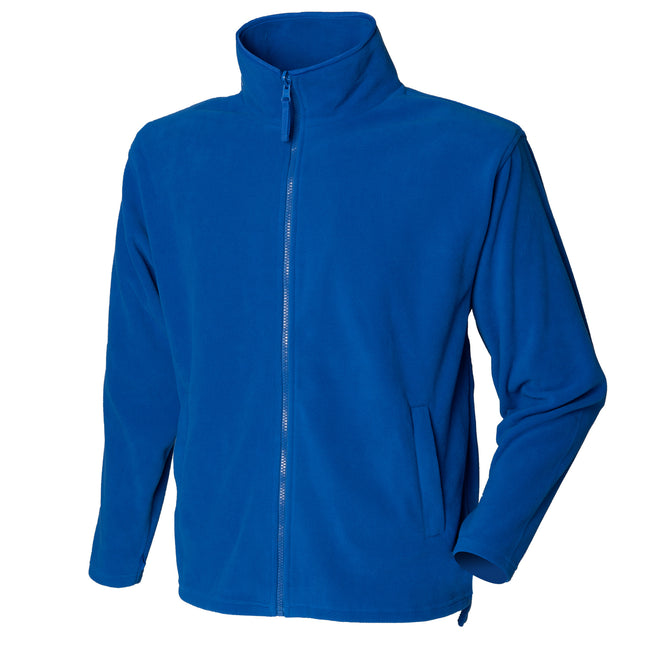 Royal - Front - Henbury Mens Microfleece Anti-Pill Jacket