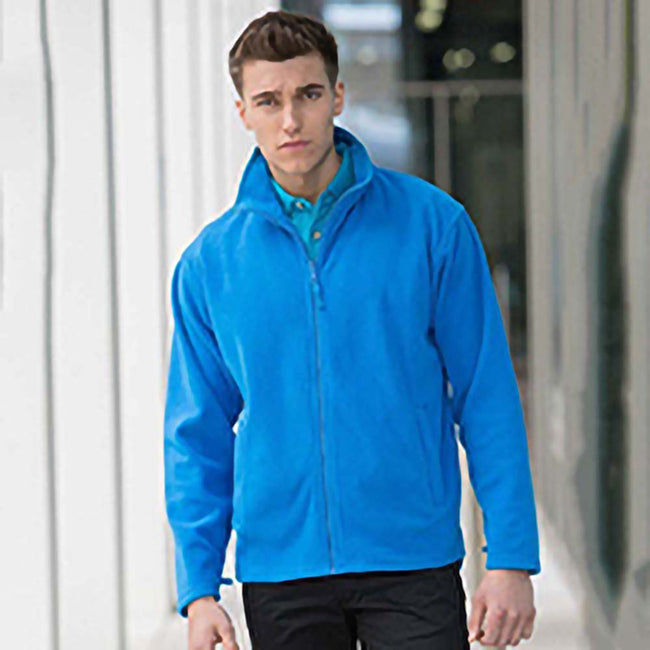 Royal - Back - Henbury Mens Microfleece Anti-Pill Jacket
