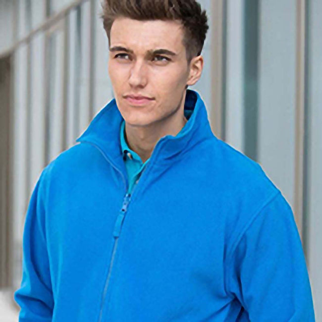 Royal - Side - Henbury Mens Microfleece Anti-Pill Jacket